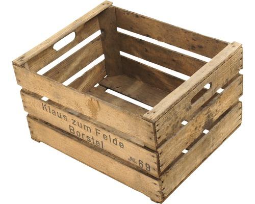 Caisse en bois Vintage 49x39x29cm