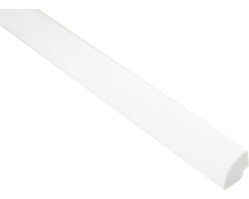 Baguette en quart-de-rond blanc 16x16x2500 mm