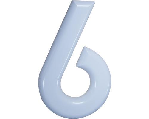 Hausnummer 6 Nylon weiß