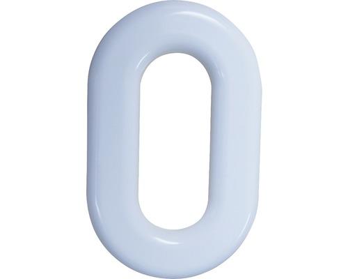 Hausnummer 0 Nylon weiß