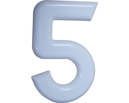 Hausnummer 5 Nylon weiß