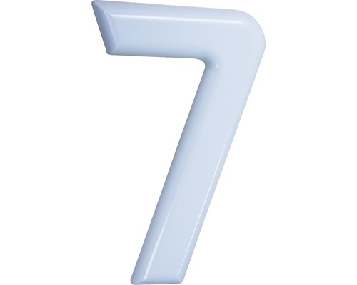 Hausnummer 7 Nylon weiß