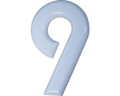 Hausnummer 9 Nylon weiß