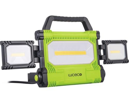 Éclairage de travail à LED IP54 50W 5000 lm 6500 K blanc lumière du jour noir/vert 260x437 mm