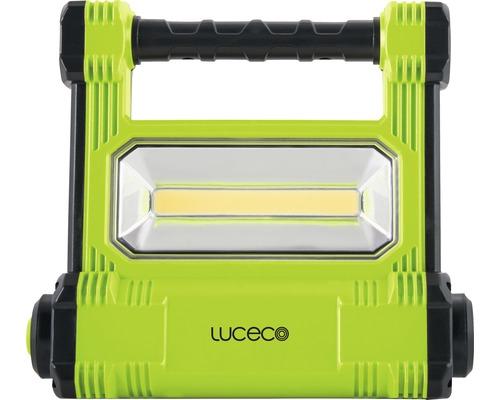 Éclairage de travail à batteries à LED IP54 20W 1800 lm 6500 K blanc lumière du jour noir/vert 223x189 mm