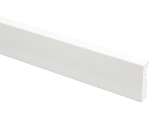 Plinthe blanc massive à clipser 15x65x2500mm
