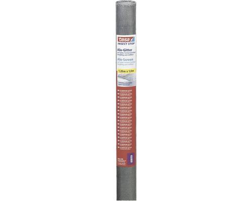 Moustiquaire aluminium, rouleau de rechange pour tesa Insect Stop Standard gris 120x100 cm