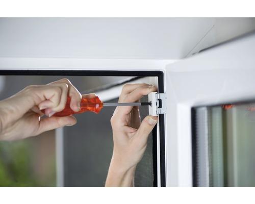 Set d''adaptateur pour un montage par serrage tesa Insect Stop Comfort Alu blanc Lot de 3