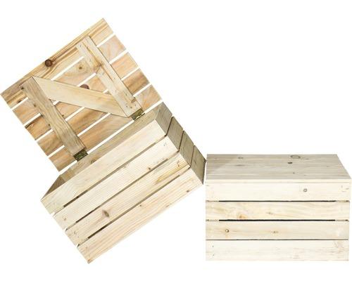 Coffre en bois naturel 50x40x30cm