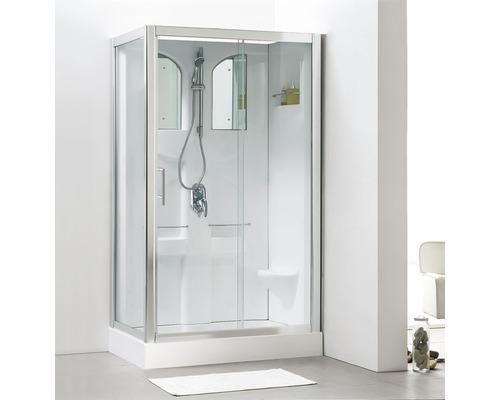 Cabine de douche Schulte Malta 120x80 cm blanc