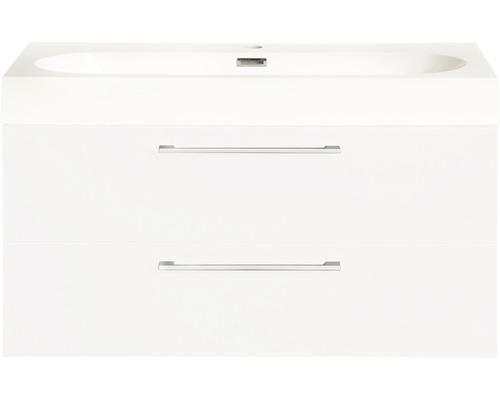 Ensemble de meubles de salle de bains Somero haute brillance blanc 80x57cm-0