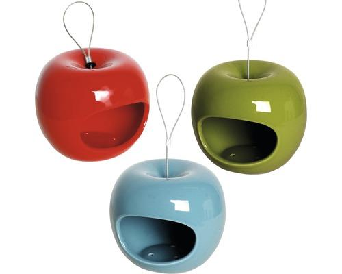 Distributeur de nourriture Pomme céramique 14x14x12 cm 3 unités-0