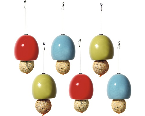 Distributeur de nourriture Boules de graisse céramique 9,5x9,5x9,5 cm 6 unités-0