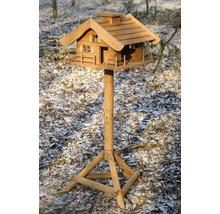 Abri-mangeoire pour oiseaux en forme de refuge de montagne avec pied 66x66x136,5 cm-thumb-7