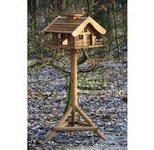 Abri-mangeoire pour oiseaux en forme de refuge de montagne avec pied 66x66x136,5 cm-thumb-8