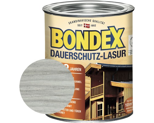 BONDEX Holzfarbe-Dauerschutzfarbe grau 750 ml
