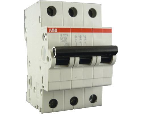 Disjoncteur automatique ABB S203-B16 16A B 3 pôles