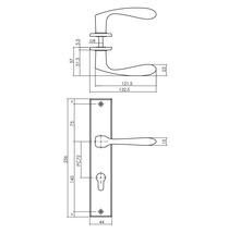 Poignée sur plaque longue Intersteel Banaan cylindre profilé 72 mm noir-thumb-1