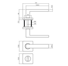 Poignée sur rosace Intersteel Hera serrure à garnitures noir-thumb-1