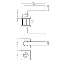 Poignée sur rosace Intersteel Hera WC noir-thumb-1
