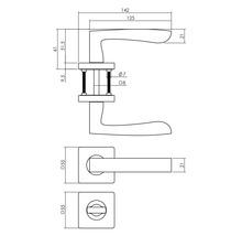 Poignée sur rosace Intersteel Minos WC noir-thumb-1