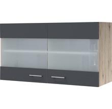 Armoire suspendue Morena largeur 100cm gris basalte-thumb-0