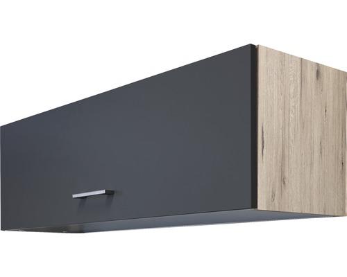 Armoire suspendue Morena largeur 100cm gris basalte