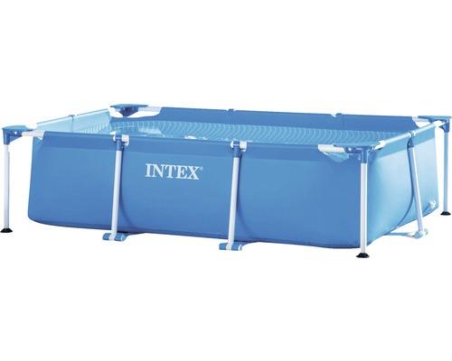 Piscine hors sol tubulaire Intex Small Metal rectangulaire 220x150x60 cm sans accessoires bleu