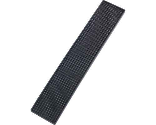 Tapis égouttoir Wenko Slim noir 8 x 42 cm