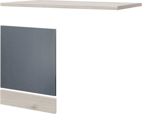 Façade pour lave-vaisselle Morena largeur 110 cm gris basalte