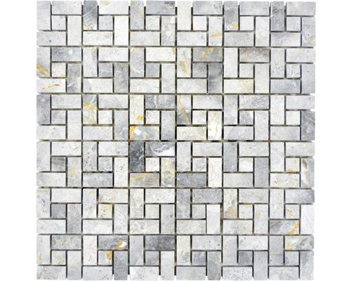 Mosaïque en pierre naturelle XNM BS11 30,5x30,5cm gris