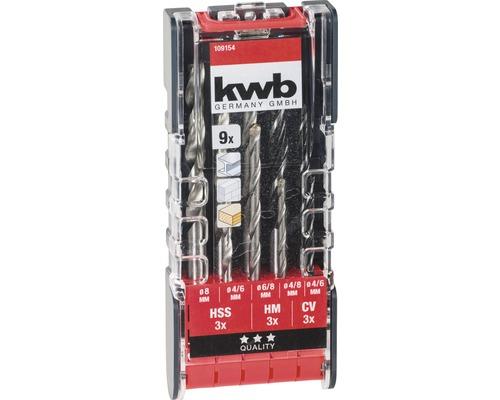 Set de 9 forets KWB