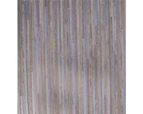 PVC Elara Feinstabparkett weiß metallic 400 cm breit (Meterware)