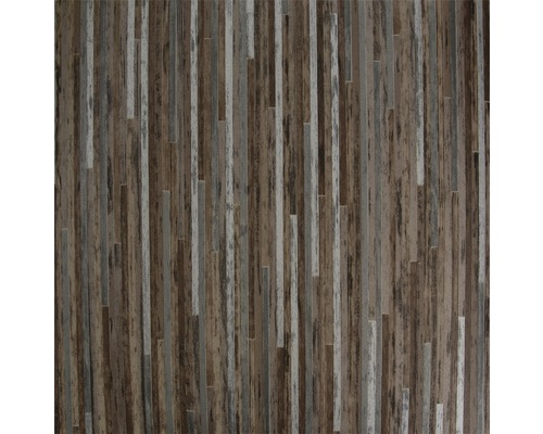 PVC Elara Feinstabparkett braun metallic 300 cm breit (Meterware)