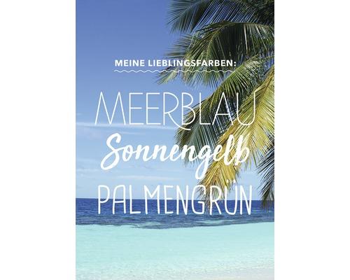 Carte postale Meine Lieblingsfarben 14,8x10,5cm