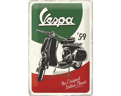 Plaque en tôle Vespa Italian 20x30cm