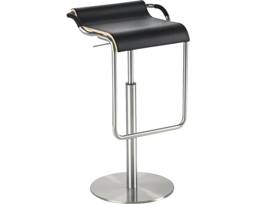 Tabouret de bar Mayer Sitzmöbel myOPUS 1218-04-87 35x47x70-97 cm assise cuir noir-0
