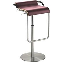 Tabouret de bar Mayer Sitzmöbel myOPUS 1218-04-84 35x47x70-97 cm assise cuir rouge-thumb-0