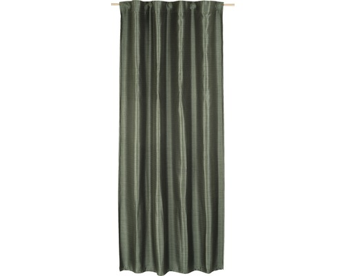 Vorhang mit Universalband Selection Texture 03 dunkelgrün140x255 cm