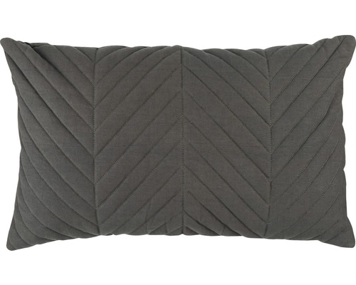 Kissenhülle Touch 07 gesteppt Uni dunkelgrau 30x50 cm
