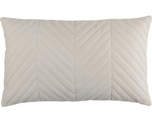 Kissenhülle Touch 19 gesteppt Uni weiß 30x50 cm