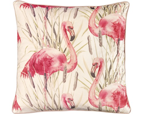Kissenhülle Flamingo Samt Rosa 50x50 cm