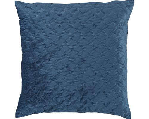 Kissenhülle Velvet Dream 01 Uni dunkelblau 50x50 cm