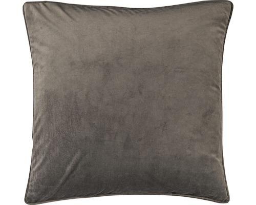 Kissenhülle Velvet 17 Samt Uni dunkelgrau 50x50 cm