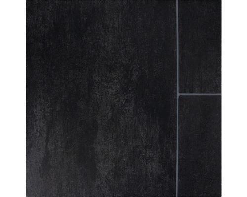 PVC Narvi Fliesenoptik schwarz 300 cm breit (Meterware)
