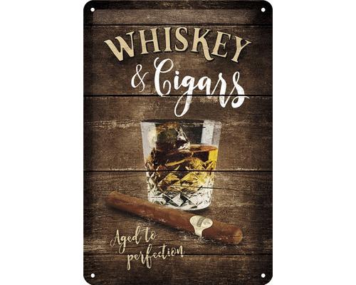 Plaque en tôle Whiskey 20x30cm