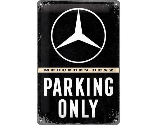 Plaque en tôle Mercedes Parking 20x30cm