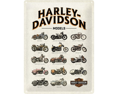 Plaque en tôle Harley Models 30x40cm