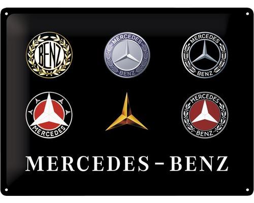 Plaque en tôle Mercedes Logos 30x40cm