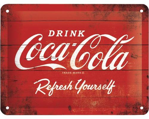 Plaque en tôle Coca-Cola Logo 15x20cm